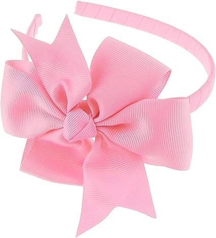 ideale per feste e per la scuola larghezza cerchietto 1/cm Glamour Girlz cerchietto con fiocco grande cannet/é per ragazze