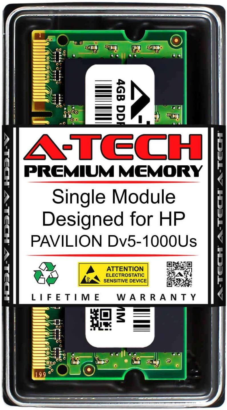 A-Tech 4GB RAM for HP Pavilion DV5-1000US | DDR2 800MHz SODIMM PC2-6400 200-Pin Non-ECC Memory Upgrade Module