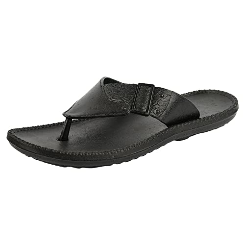 42e86f41655c DIZI Men's And Boy's Black Slippers And Flip Flops: Amazon.in: Shoes ...