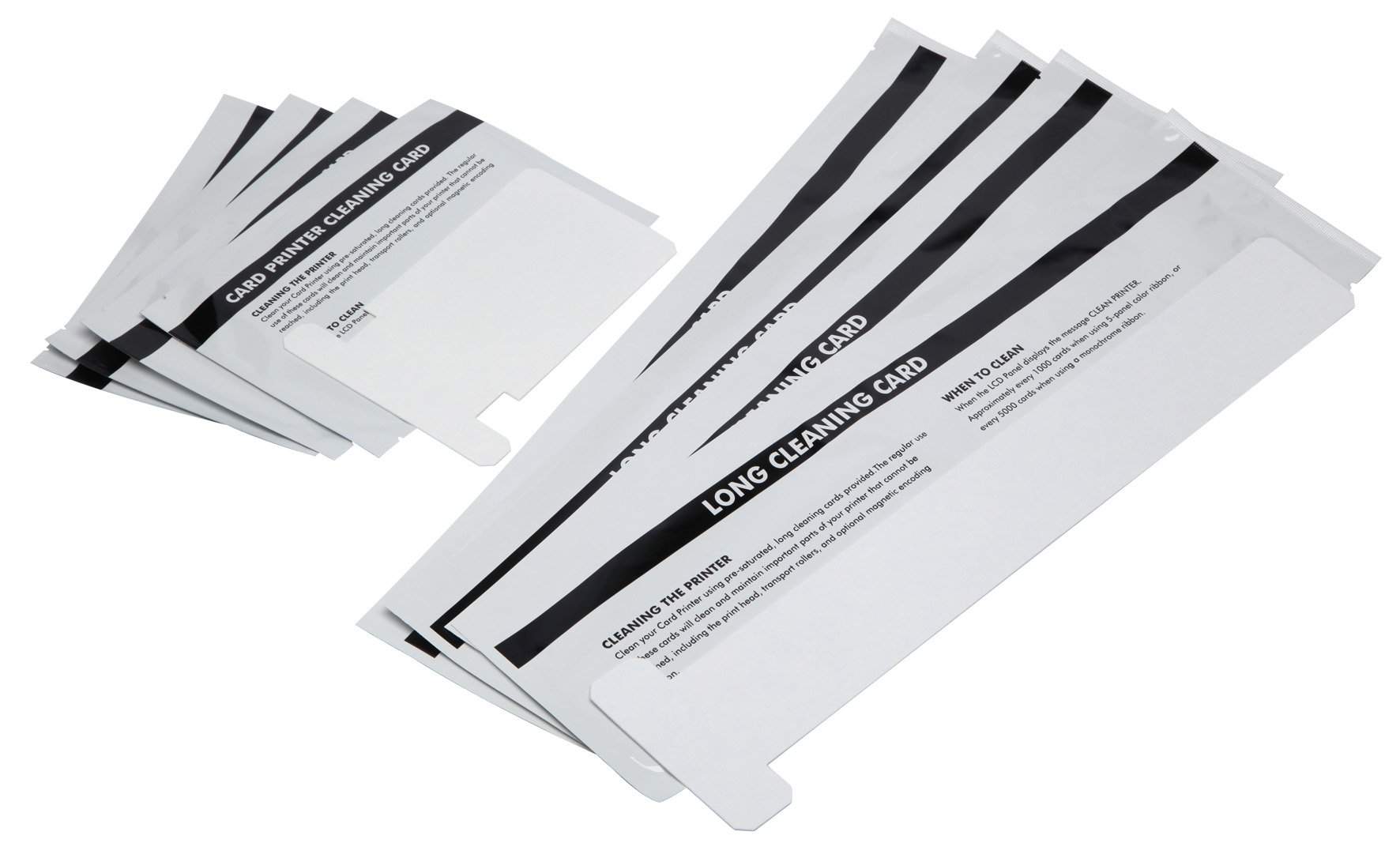 Cleanmo Repair Cleaning Kits for ZXP Series 1 and 3 ID Card Printer, Pack of 4 Short T Cards and 4 Long T Cards by Cleanmo