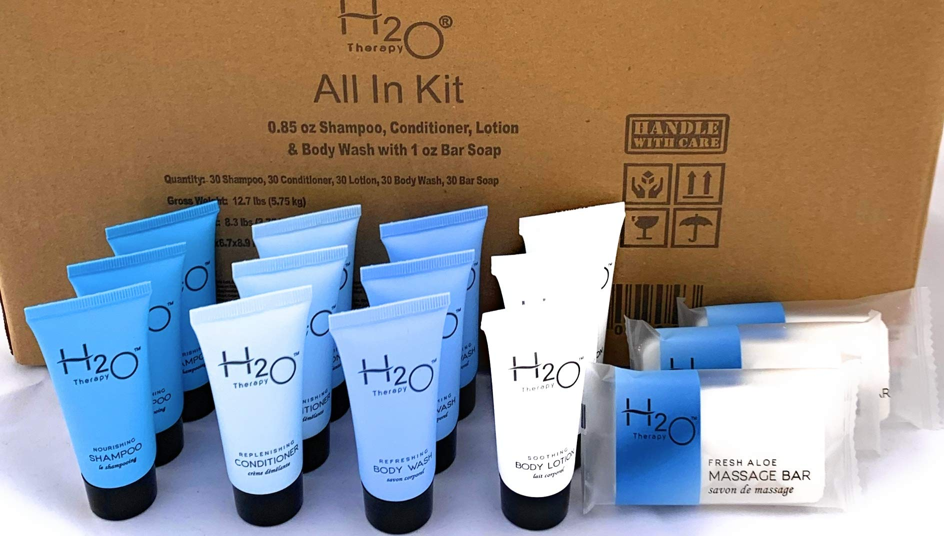 H2O Therapy All-In-Kit Hotel/Vacation Rental Soap Amenities Set (300 pcs)