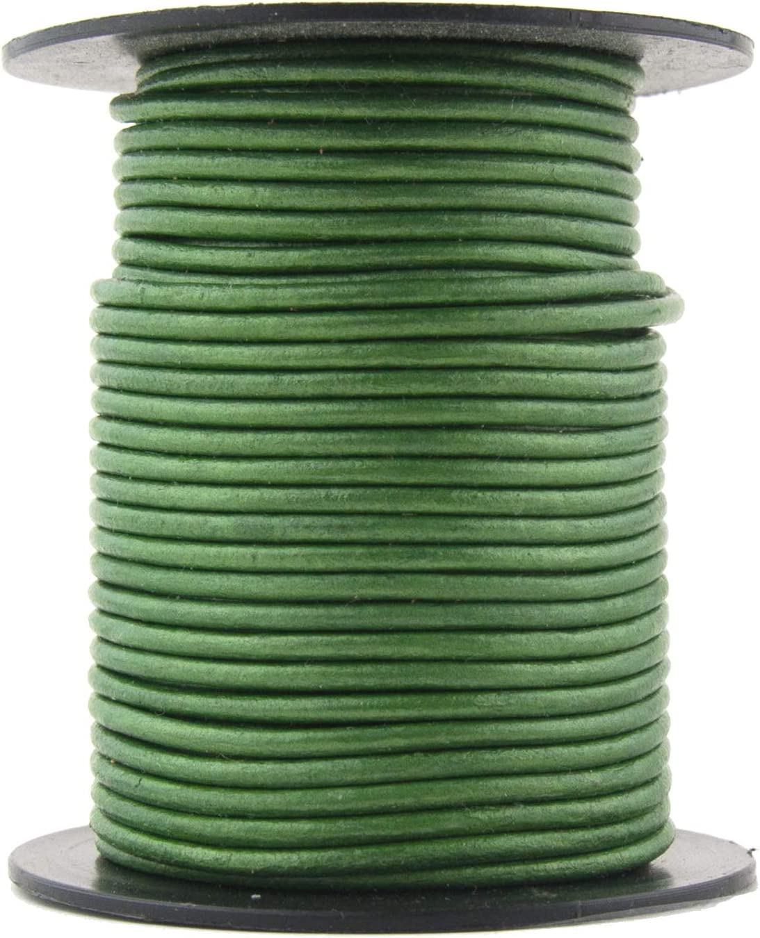 Mint, 10.0 Meter Xsotica Metallic Round Leather Cords-1.5 MM Cord 10 Yard