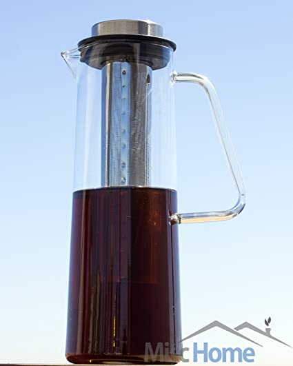 Cold Brewed Coffee Maker - 1 Liter Iced Coffee Maker -Borosilicate
