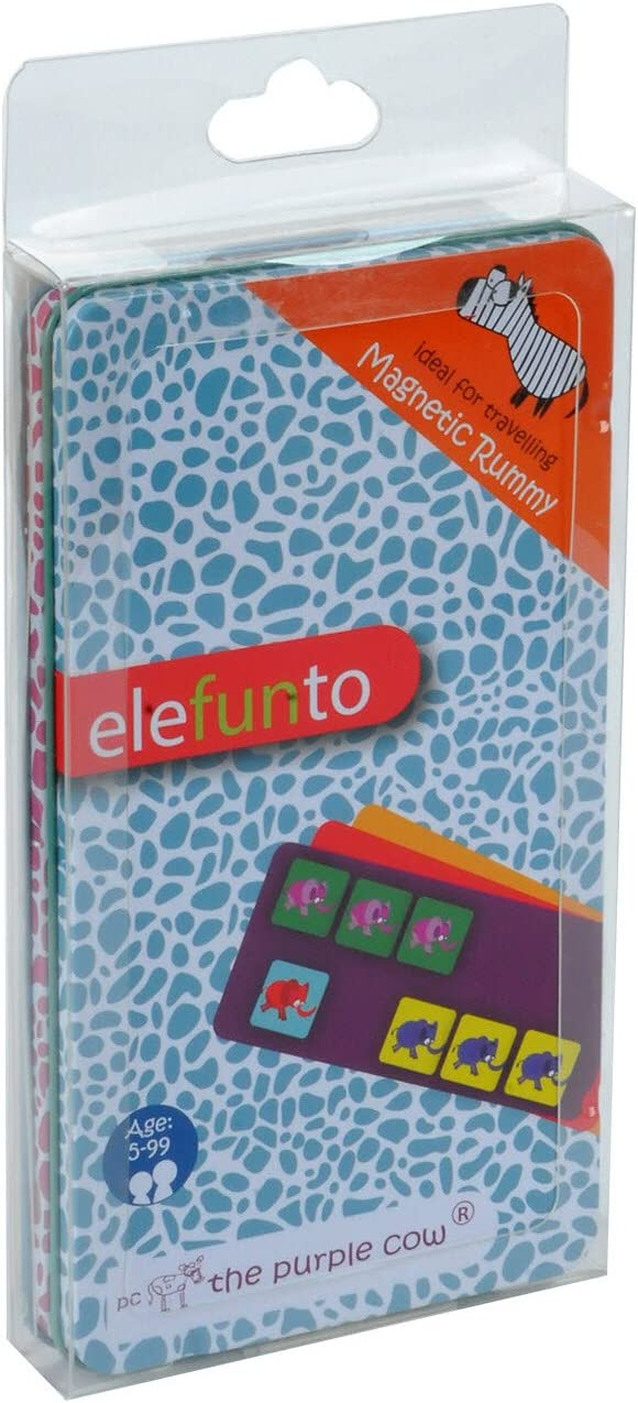 The Purple Cow Magnetic to Go Elefunto Travel Games - Magnetic Game - for Both at Home & in The Car & On The Go - for Traveler Kids - 6-Year-Old & Up - Traveling Adults - 50 Magnetpiece!