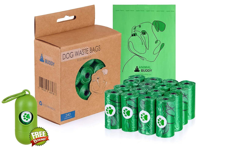 Amazon.com: Animal Buddy Bolsas biodegradables para perros ...