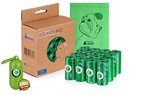 Amazon.com: Animal Buddy Bolsas biodegradables para perros ...