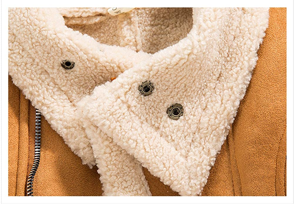 AIKSSOO Toddler Boys Winter Outerwear Thick Fleece Lapel Sharpa Lined Trucker Jacket