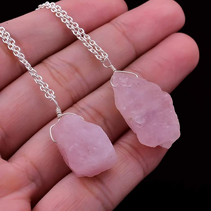 Morganite Crystal Pendant Handmade Jewelry Gifts Raw Pink Morganite Necklace Delicate Jewelry valentine gift Gift For Her