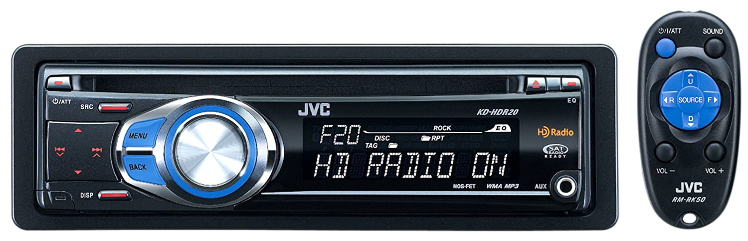 Amazon Com Jvc Kd Hdr20 Single Din Cd Hd Radio Mp3 Wma Compatible
