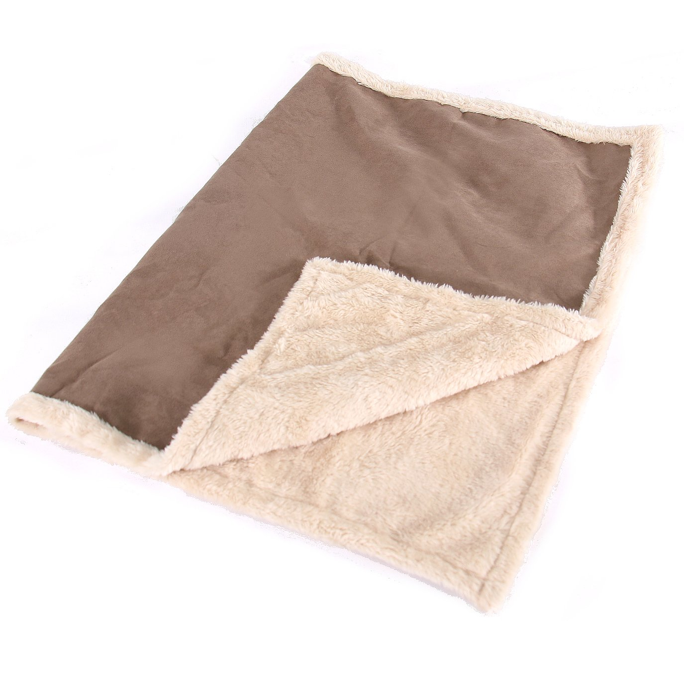 Max And Neo Cozy Premium Faux Suede Fleece Dog Blanket