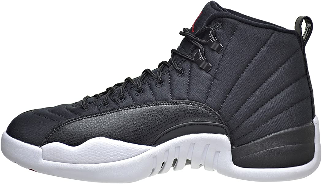 38a4be48745 Amazon.com | Jordan Air 12 Retro Men's Shoes Black/Gym Red/White ...