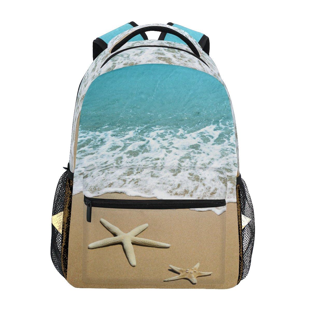 ファッションヒトデon Beach Sandバックパックショルダーバッグレディースガールズ旅行Holiday   B07FYFRWM9