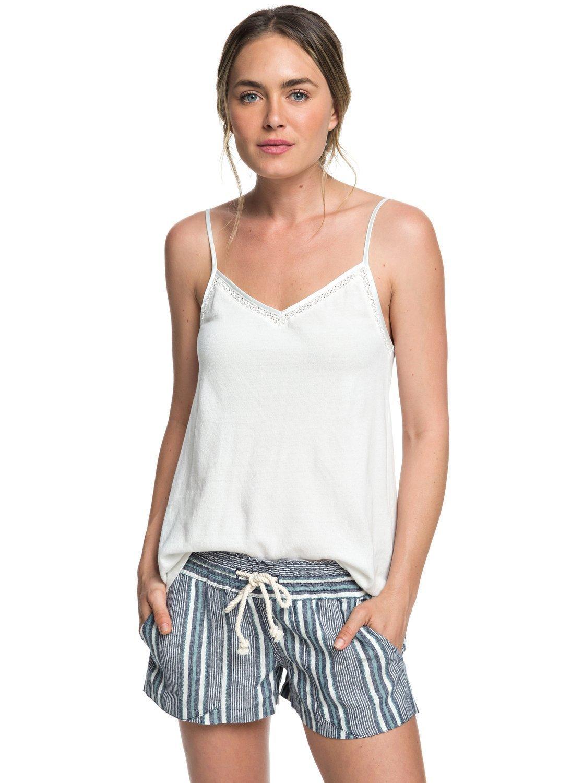 Roxy Junior's Oceanside Yarn Dye Short, Dress Blues Cherokee Stripes, S