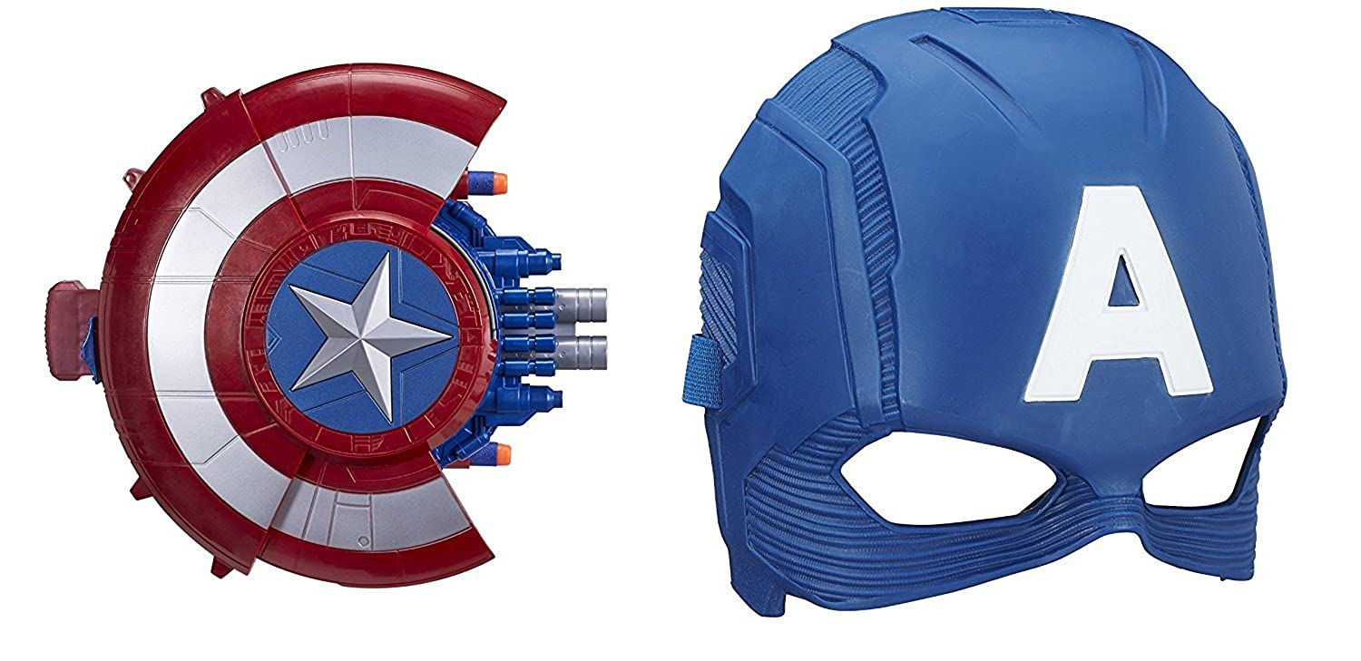Marvel Captain America  Civil War Blaster Reveal Shield and Mask