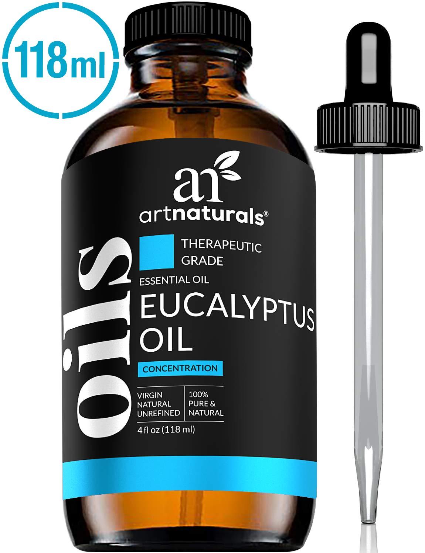 ArtNaturals 100% Pure Eucalyptus Essential Oil - (4.0 Fl Oz / 118ml) - Therapeutic Grade Natural Oils by ArtNaturals
