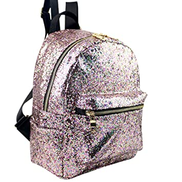 Sannysis Mochilas Mujer pequeñas portatil Mochilas niña con Lentejuelas de Moda Decor Bolso Mochilas Mujer Bolsos Mujer Bandolera Satchel Backpack (Negro): ...