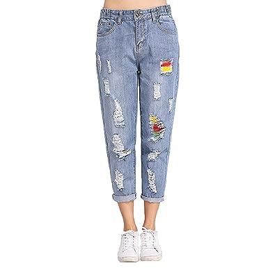 2fcd84e5848 Vintage Boyfriend Jeans Women Mid Waist Loose Denim Jeans Pants Plus Size  at Amazon Women s Jeans store