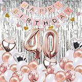 Decoraciones de Cumpleaños Número 40 Banner Globo ...