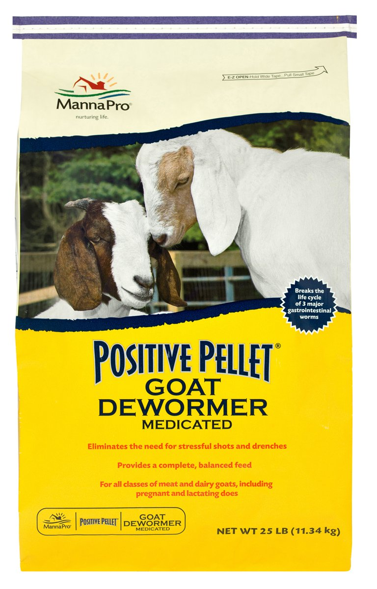 Manna Pro Corporation Positive Pellet Goat Dewormer, 25 lb Bag by Manna Pro Corporation