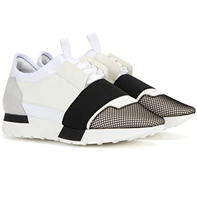 5f0b6dc27eb7 Balenciaga Race Runner Fabric and Leather Unisex Sneakers (8 UK  41 ...