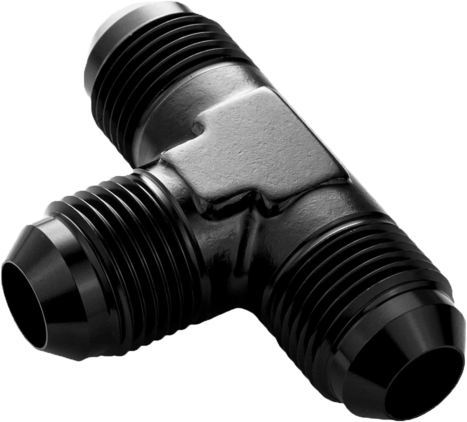 6AN to AN 6 Male Y Block Fuel Pump Fitting Adapter Aluminum 3 x 6AN 9//16-18 Male Flare Thread Y Tube Connector Black