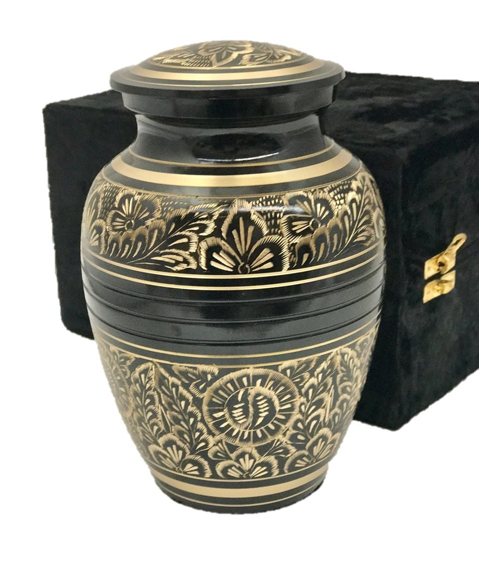 Funeral Cremation Urn, Pet or Human Memorial Ash Urn with Gift Box- 7'' Medium Size