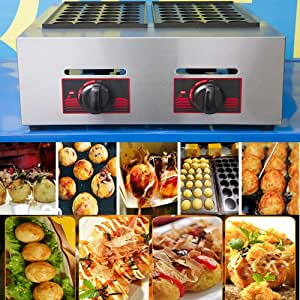 TOPCHANCES 56 Holes Household Octopus Ball Cooking Baking Machine Takoyaki Maker Machine Grill Professional Cooking Tools (Gas Support)