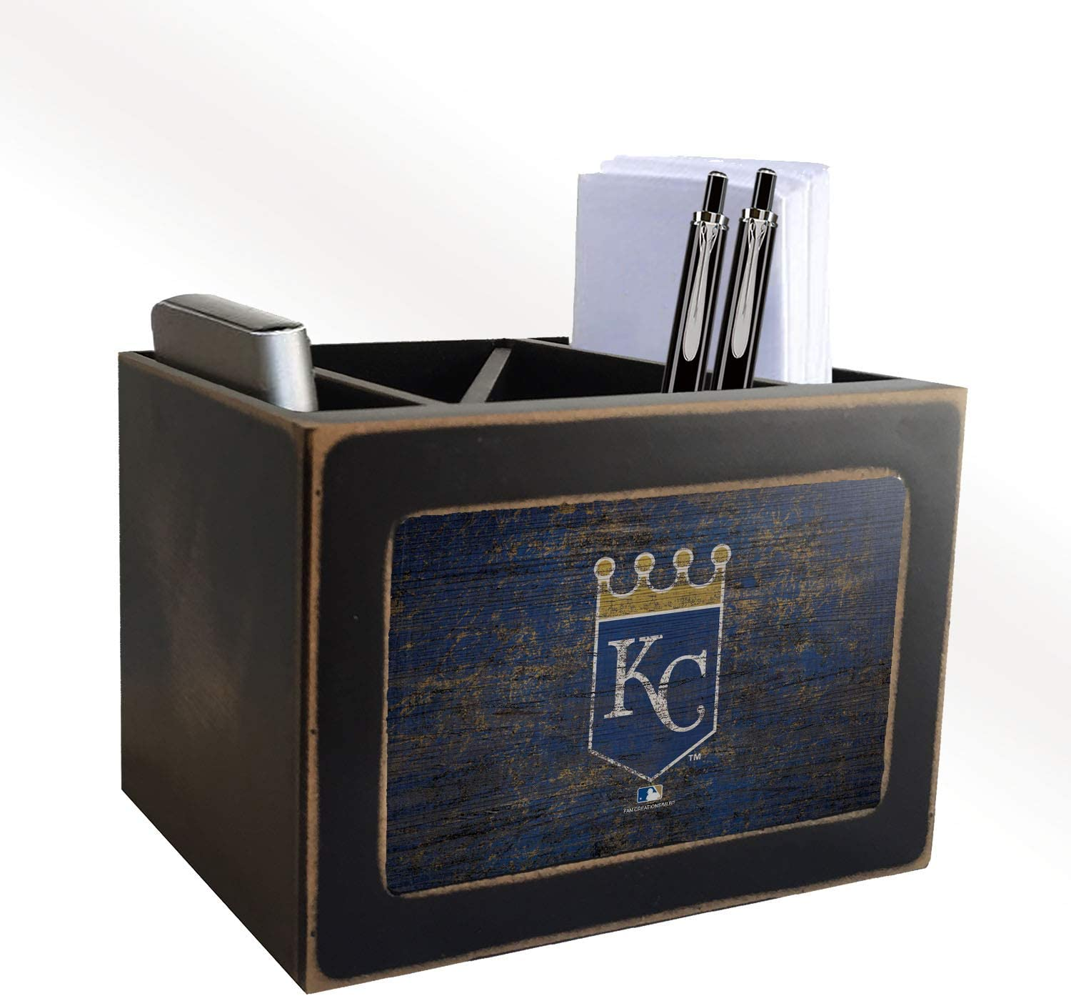 Fan Creations MLB Kansas City Royals Distressed Team Logo Desktop Organizer with Color