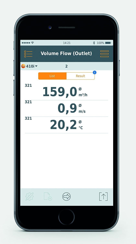 testo 410i Bluetooth Vane Anemometer Smart Probe