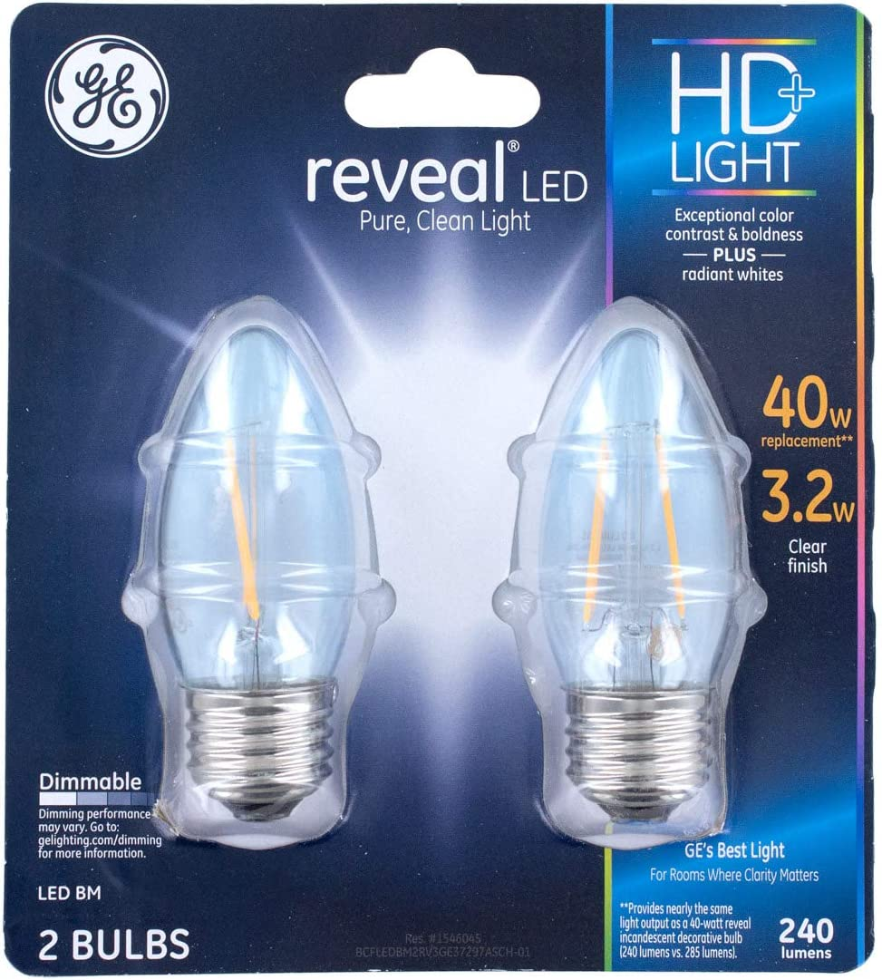 GE Lighting Reveal LED - 3.2 Watts - 120 Volts - Dimmable -