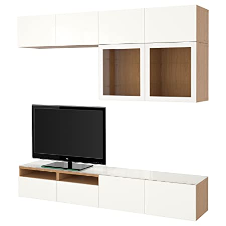 Ikea Besta Tv Storage Combinationglass Doors Oak Effectselsviken