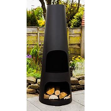Fabricado o diseño de cono fabricado con tamaño grande de jardín con Metal diseño cilíndrico