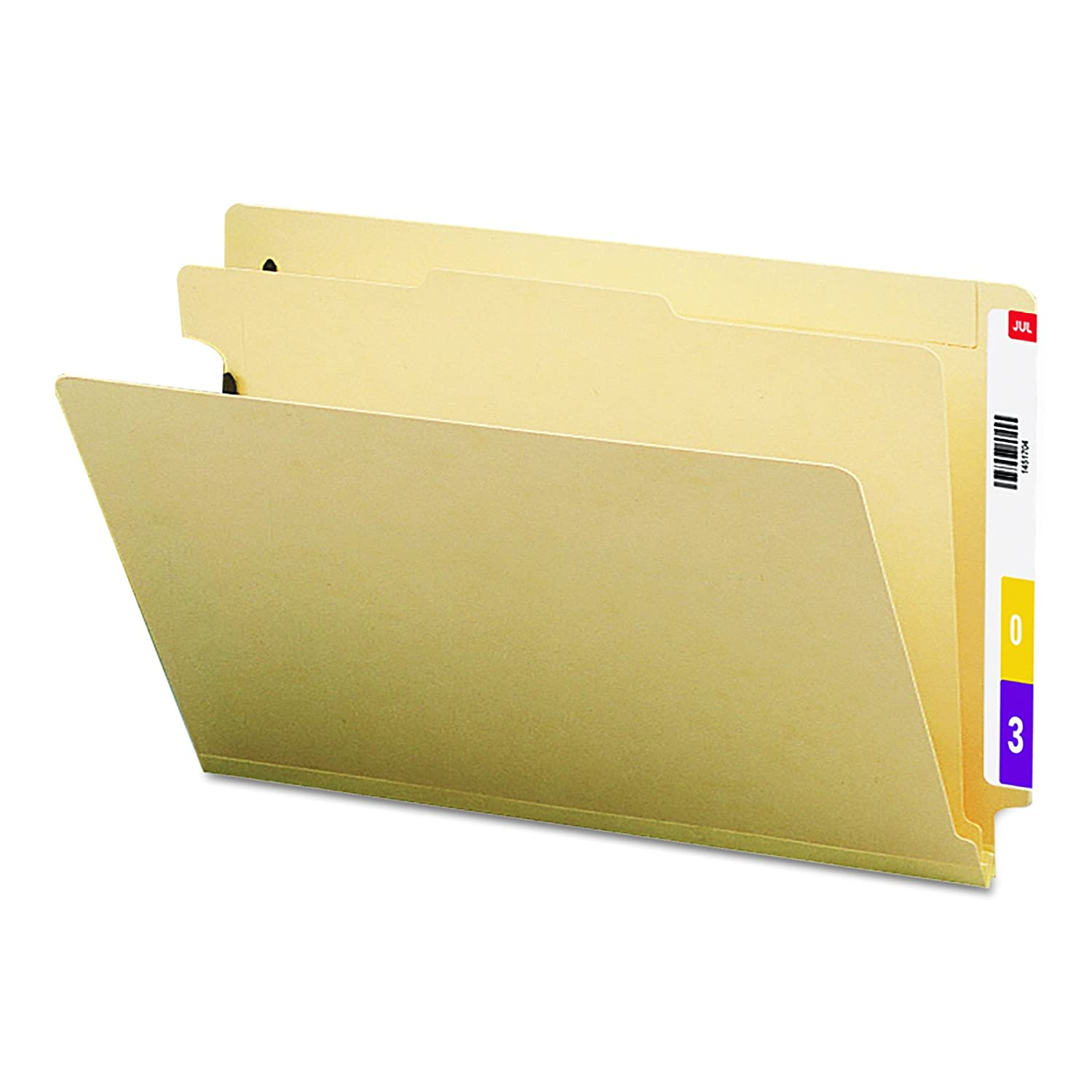 Smead End Tab Classification Folder, Legal, Straight, 2 Dividers, 10 Per Box (29835)