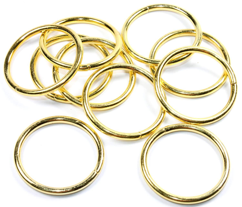 D Ringe 10x Halbringe 25mm licht-Gold