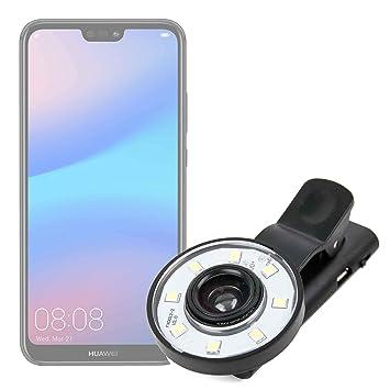 DURAGADGET Flash Selfie para Smartphone Huawei P20 Lite 2019, OPPO ...
