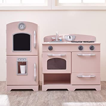 Amazon.com: Teamson Kids - Cocina de madera retro con nevera ...