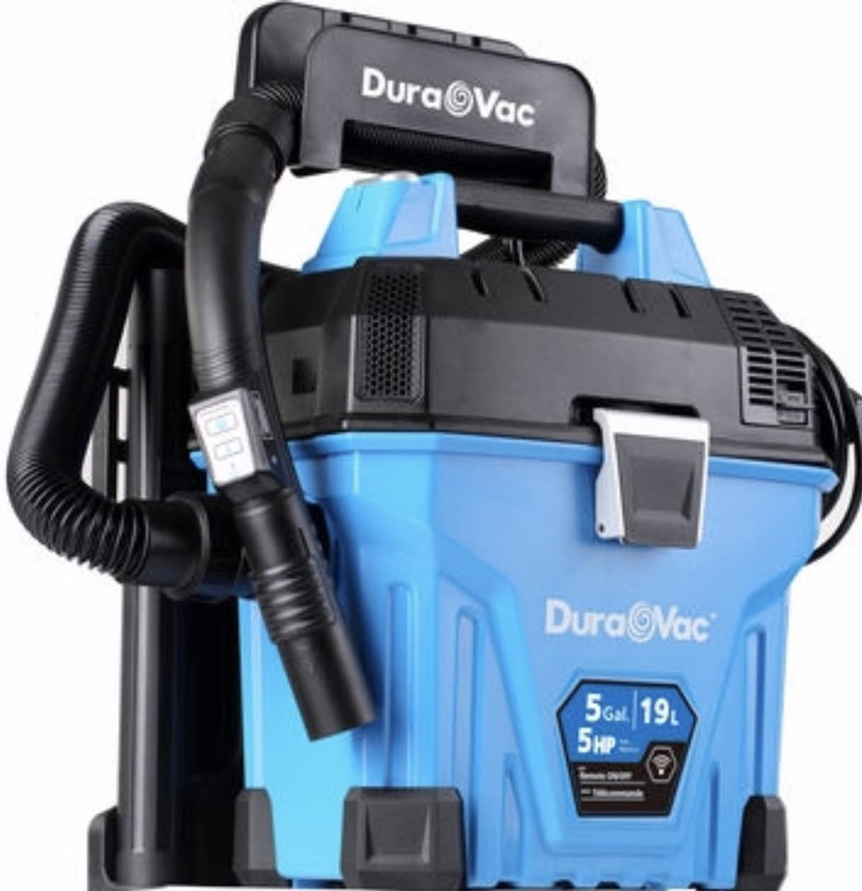 Vacmaster Wall Mountable Wet/Dry Garage Vac with Remote Control, 5 Gallon, 5 HP (VWMB5080101), Blue