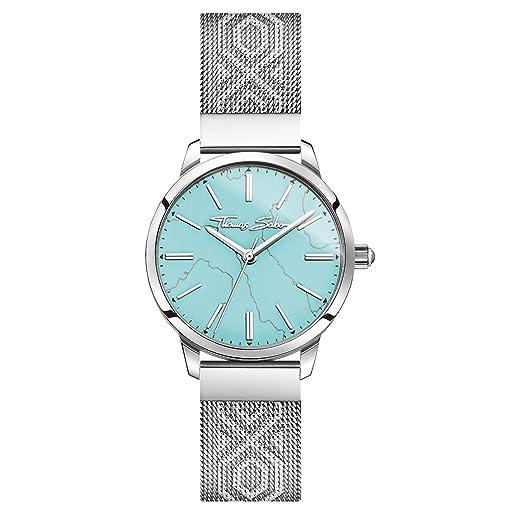 Thomas Sabo Reloj Analógico para Mujer de Cuarzo con Correa en Acero Inoxidable WA0343-201-215-33 mm: Amazon.es: Relojes