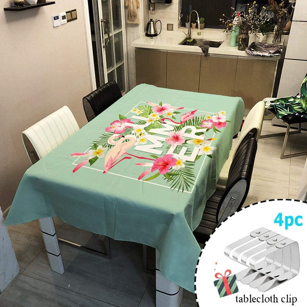 Pflegeleicht Fleckschutz /Ölfest Abwaschbar Outdoor Garten Deko Mehrzweck Farbe /& Gr/ö/ße W/ählbar Odot Tischdecke Flamingo Wasserdicht Polyester Rechteckig Gr/ün Pink Ananas 60 * 60cm,A Blau