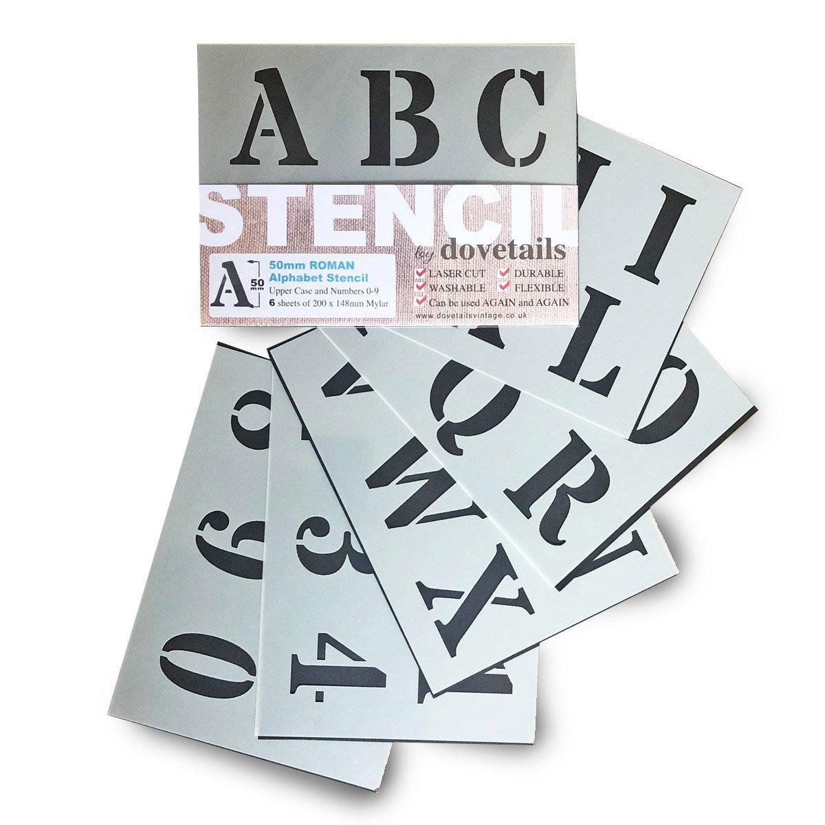 Alphabet Stencils Letter Numbers Big 50mm Tall 1.96
