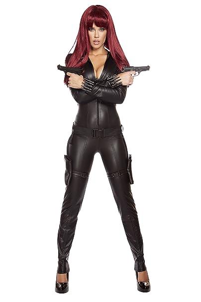 Amazon.com: 2 Piece Sexy Assassin Ninja Hit Woman Jumpsuit ...