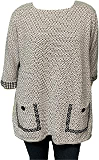 product image for Margaret Winters Spring Sweater Tunic Plus Sizes XL-2X