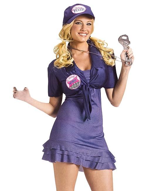 Amazon.com: Sexy disfraz de mecánico Handy niña vestido con ...
