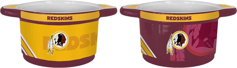 Boelter Brands NFL Team Logo 23 oz Twist Game Time Ceramic Bowl Washington Redskins