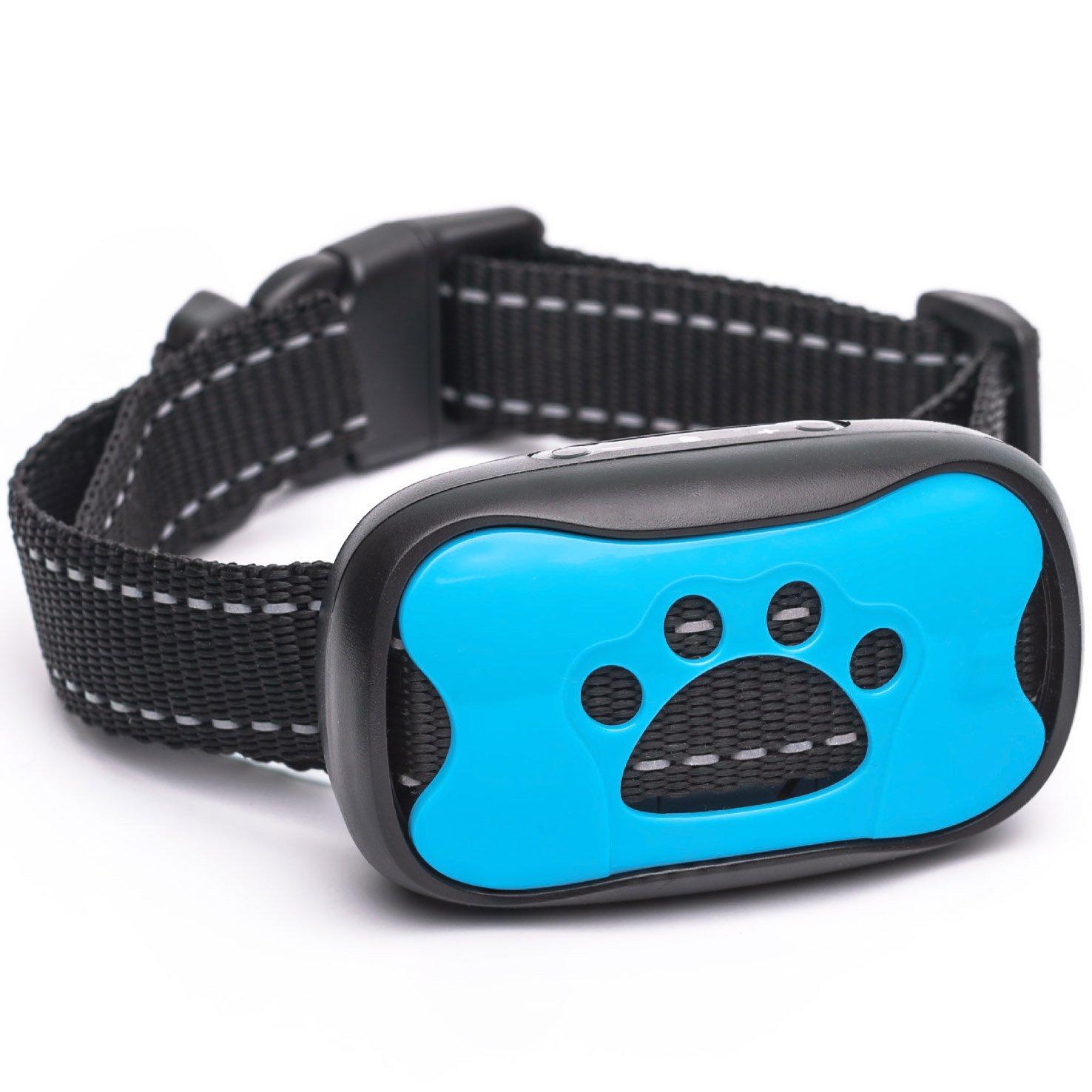 Dog Bark Collar 2018 Model - Humane Training Collar - Vibration No Shock Anti Bark Collar for Small Medium Large Dogs - 15 -100lbs - Safe Pet Device Bark Control