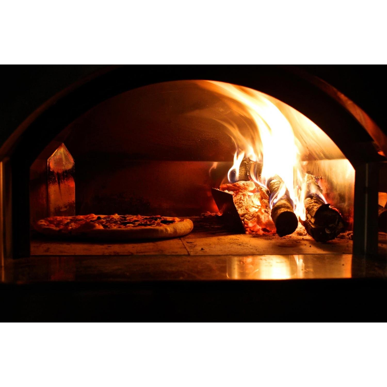 amazon com forno toscano mangiafuoco wood fired pizza oven on cart