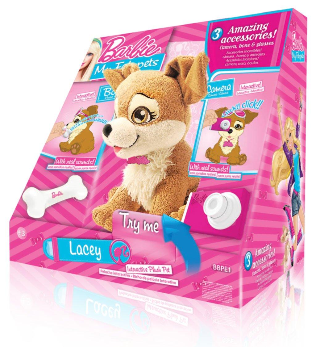 Barbie Intek My Fab Pets Lacey - Perro de peluche interactivo: Amazon.es: Juguetes y juegos