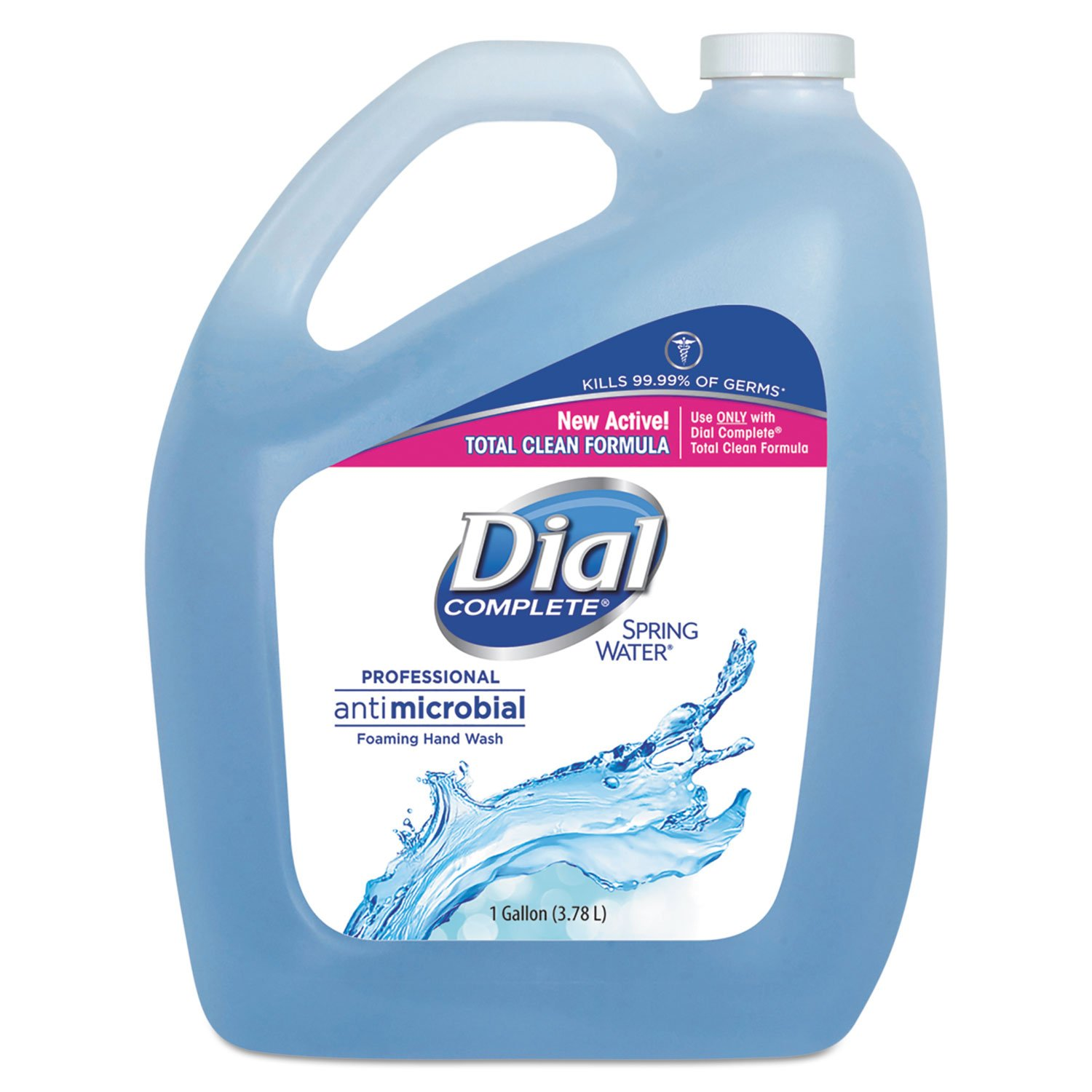 Dial Professional Antimicrobial Foaming Hand Wash, Spring Water, 1 gal Bottle, 4/Carton