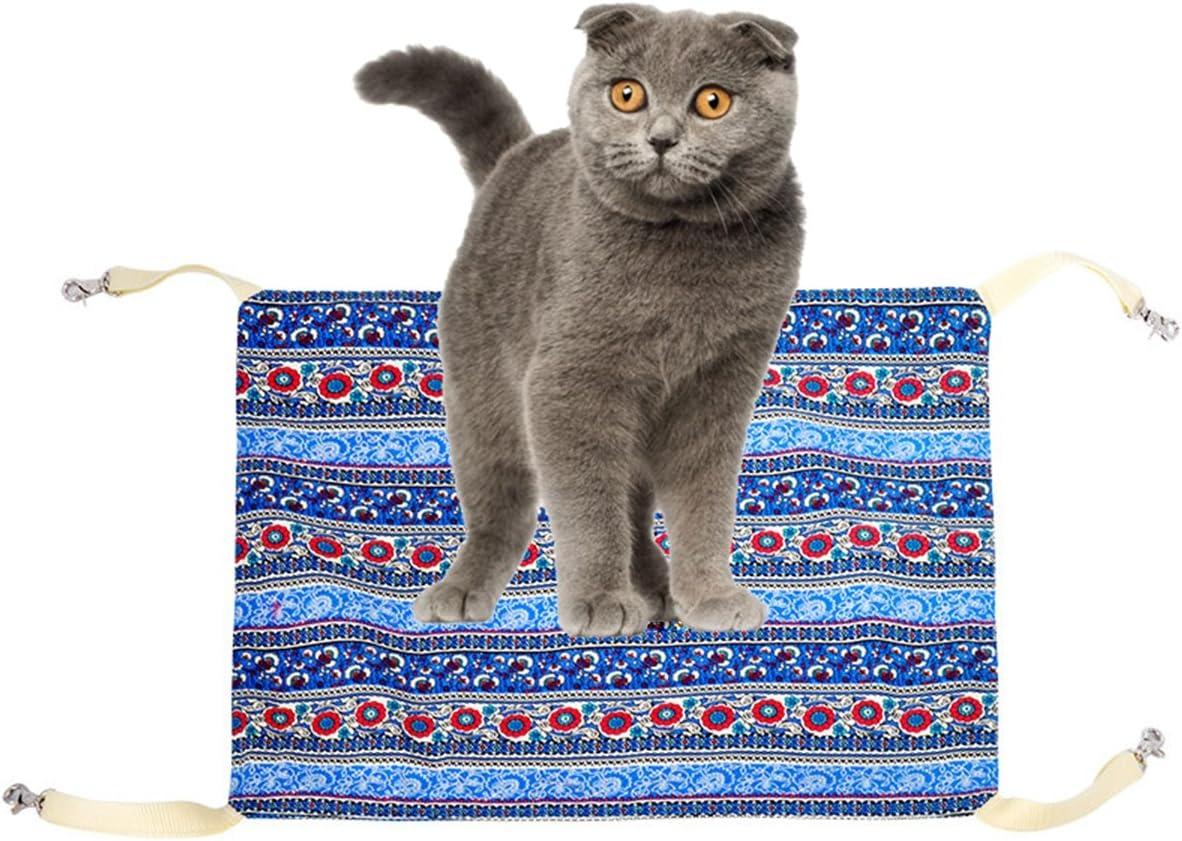 XIN BAO Hamaca para Gatos Columpio para Mascotas Hamaca Cuadrada Cama para Jugar del Gatito Tipo Colgante Ático y desván, D: Amazon.es: Deportes y aire libre