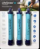 LifeStraw Personal Water Filter, 3 Piece